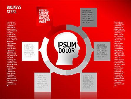 Decision Making Steps, Slide 11, 01667, Stage Diagrams — PoweredTemplate.com