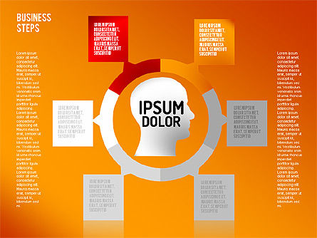Decision Making Steps, Slide 12, 01667, Stage Diagrams — PoweredTemplate.com