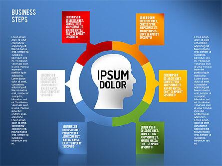 Decision Making Steps, Slide 15, 01667, Stage Diagrams — PoweredTemplate.com