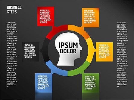 Decision Making Steps, Slide 16, 01667, Stage Diagrams — PoweredTemplate.com