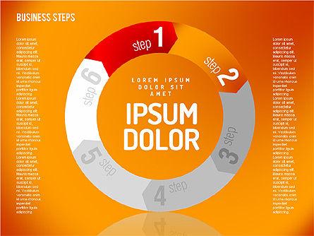 Decision Making Steps, Slide 6, 01667, Stage Diagrams — PoweredTemplate.com