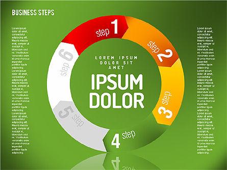 Decision Making Steps, Slide 8, 01667, Stage Diagrams — PoweredTemplate.com