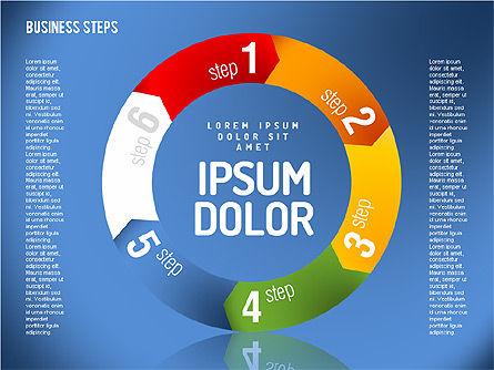 Decision Making Steps, Slide 9, 01667, Stage Diagrams — PoweredTemplate.com
