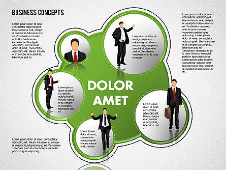 Business Models: Business Illustrations with Silhouettes #01670