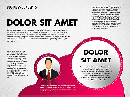 Business Illustrations with Silhouettes, Slide 2, 01670, Business Models — PoweredTemplate.com
