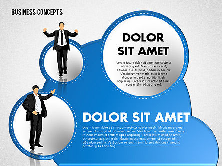 Business Illustrations with Silhouettes, Slide 3, 01670, Business Models — PoweredTemplate.com