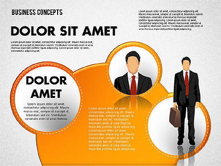 Business Illustrations with Silhouettes, Slide 4, 01670, Business Models — PoweredTemplate.com