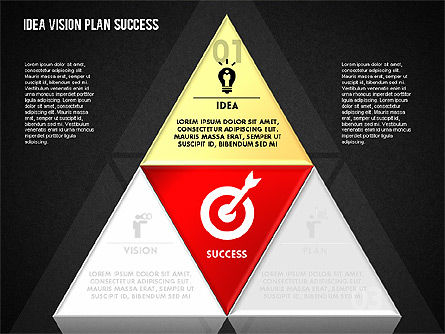 Success Planning Diagram, Slide 12, 01671, Stage Diagrams — PoweredTemplate.com