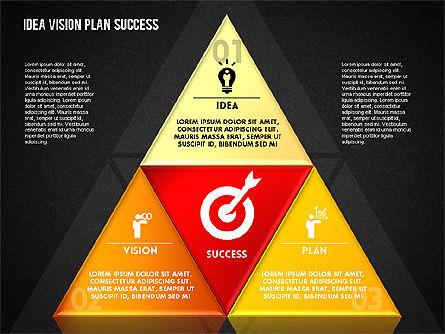 Success Planning Diagram, Slide 14, 01671, Stage Diagrams — PoweredTemplate.com