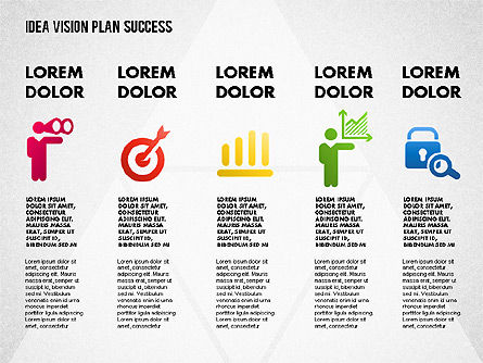 Success Planning Diagram, Slide 5, 01671, Stage Diagrams — PoweredTemplate.com