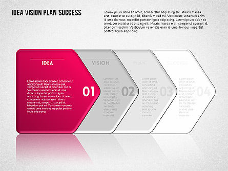Success Planning Diagram, Slide 6, 01671, Stage Diagrams — PoweredTemplate.com
