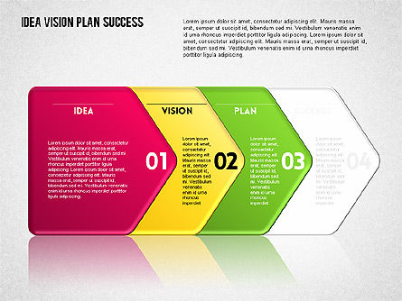 Success Planning Diagram, Slide 8, 01671, Stage Diagrams — PoweredTemplate.com