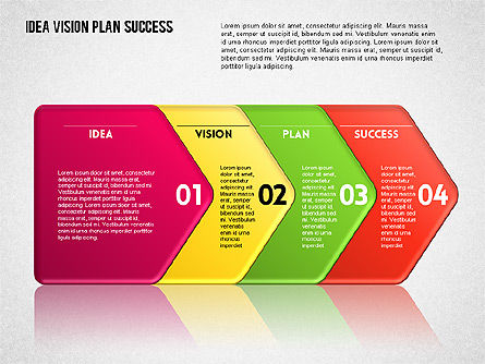 Success Planning Diagram, Slide 9, 01671, Stage Diagrams — PoweredTemplate.com