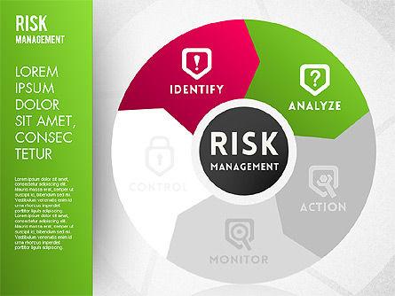 Risk Management Wheel Diagram, Slide 2, 01672, Puzzle Diagrams — PoweredTemplate.com
