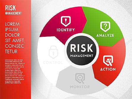 Risk Management Wheel Diagram, Slide 3, 01672, Puzzle Diagrams — PoweredTemplate.com