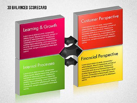 3D Balanced Scorecard Diagram, Slide 10, 01673, Business Models — PoweredTemplate.com
