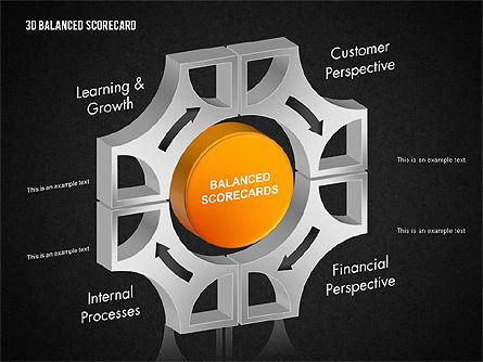 3D Balanced Scorecard Diagram, Slide 11, 01673, Business Models — PoweredTemplate.com