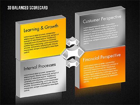 3D Balanced Scorecard Diagram, Slide 13, 01673, Business Models — PoweredTemplate.com