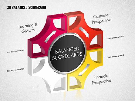 3D Balanced Scorecard Diagram, Slide 5, 01673, Business Models — PoweredTemplate.com