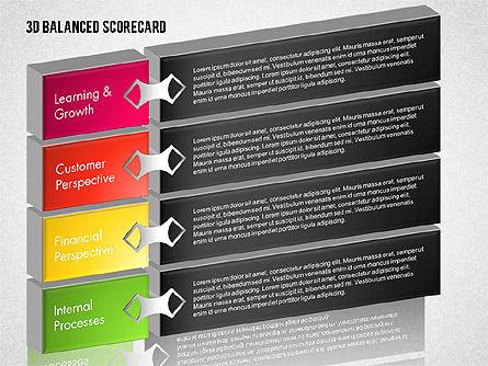 3D Balanced Scorecard Diagram, Slide 7, 01673, Business Models — PoweredTemplate.com