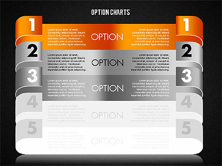 Stripe Options Diagram, Slide 18, 01674, Stage Diagrams — PoweredTemplate.com