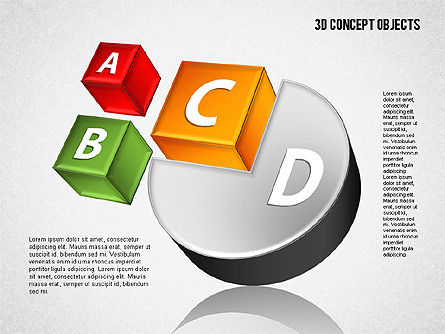 3D Concept Objects Set, 01675, Shapes — PoweredTemplate.com