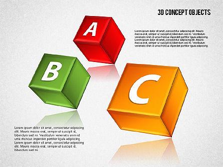 3D Concept Objects Set, Slide 10, 01675, Shapes — PoweredTemplate.com