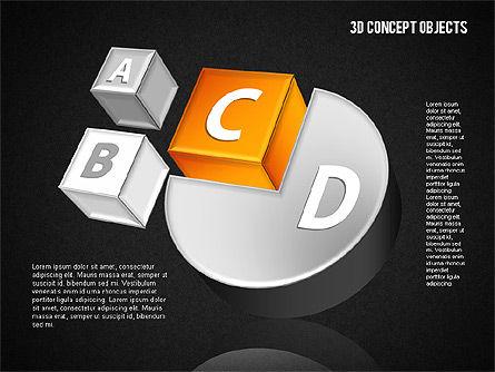 3D Concept Objects Set, Slide 11, 01675, Shapes — PoweredTemplate.com