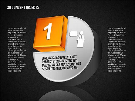 3D Concept Objects Set, Slide 12, 01675, Shapes — PoweredTemplate.com