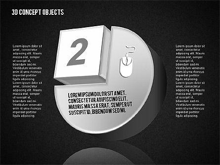 3D Concept Objects Set, Slide 13, 01675, Shapes — PoweredTemplate.com
