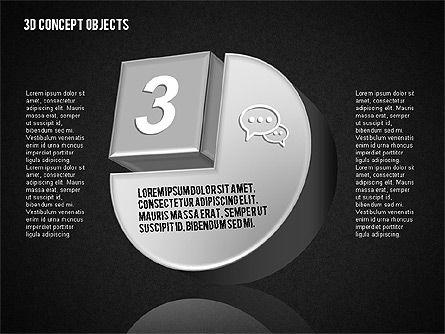 3D Concept Objects Set, Slide 14, 01675, Shapes — PoweredTemplate.com