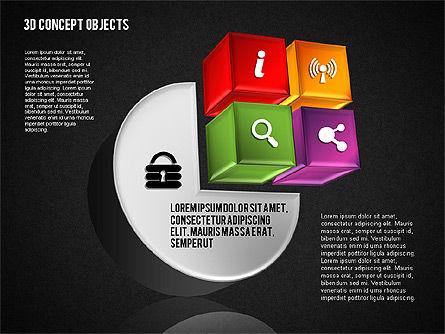 3D Concept Objects Set, Slide 15, 01675, Shapes — PoweredTemplate.com
