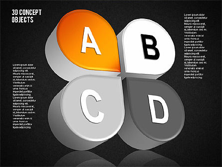 3D Concept Objects Set, Slide 16, 01675, Shapes — PoweredTemplate.com