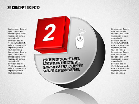 3D Concept Objects Set, Slide 3, 01675, Shapes — PoweredTemplate.com