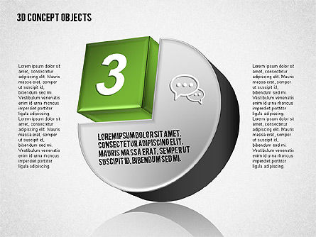 3D Concept Objects Set, Slide 4, 01675, Shapes — PoweredTemplate.com