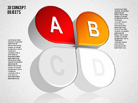 3D Concept Objects Set, Slide 7, 01675, Shapes — PoweredTemplate.com