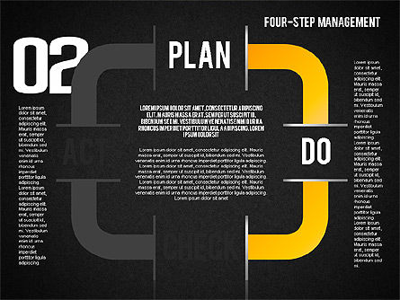 PDCA Cycle, Slide 10, 01676, Process Diagrams — PoweredTemplate.com