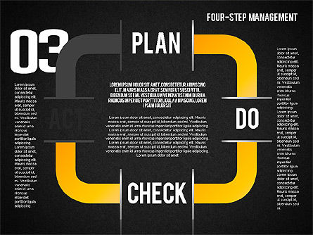 PDCA Cycle, Slide 11, 01676, Process Diagrams — PoweredTemplate.com