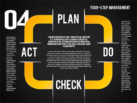PDCA Cycle, Slide 12, 01676, Process Diagrams — PoweredTemplate.com