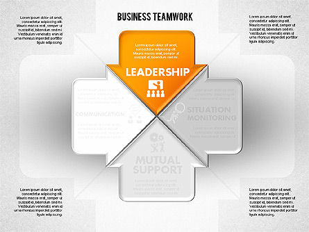 Business Teamwork Process, 01677, Process Diagrams — PoweredTemplate.com