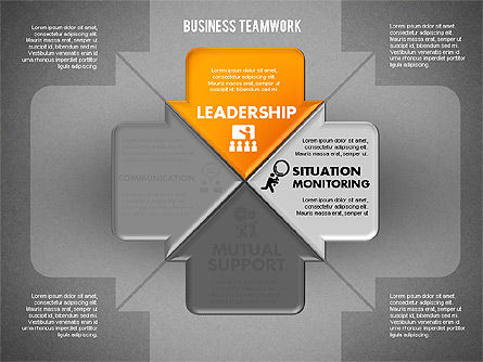Business Teamwork Process, Slide 10, 01677, Process Diagrams — PoweredTemplate.com