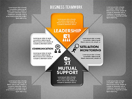 Business Teamwork Process, Slide 12, 01677, Process Diagrams — PoweredTemplate.com
