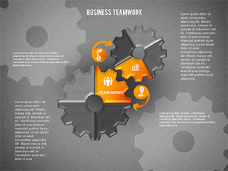 Business Teamwork Process, Slide 13, 01677, Process Diagrams — PoweredTemplate.com