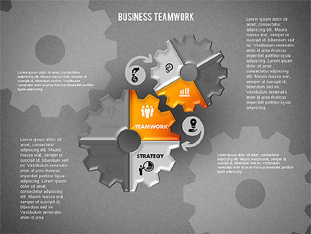 Business Teamwork Process, Slide 14, 01677, Process Diagrams — PoweredTemplate.com