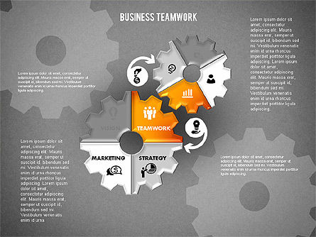Business Teamwork Process, Slide 15, 01677, Process Diagrams — PoweredTemplate.com