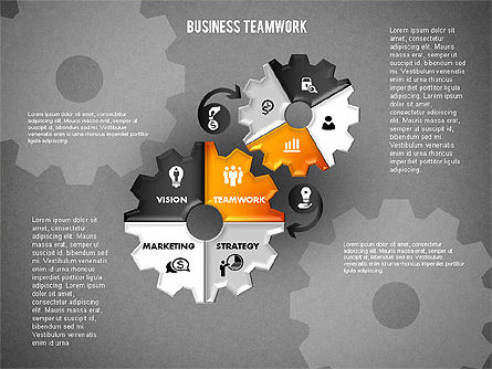 Business Teamwork Process, Slide 16, 01677, Process Diagrams — PoweredTemplate.com