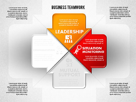 Business Teamwork Process, Slide 2, 01677, Process Diagrams — PoweredTemplate.com