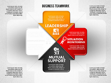 Business Teamwork Process, Slide 3, 01677, Process Diagrams — PoweredTemplate.com