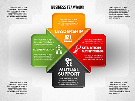 Business Teamwork Process, Slide 4, 01677, Process Diagrams — PoweredTemplate.com