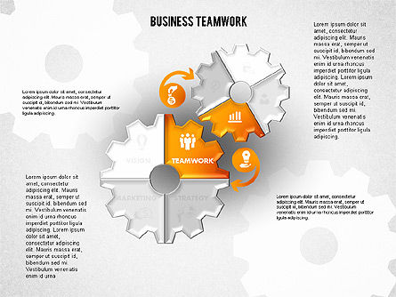Business Teamwork Process, Slide 5, 01677, Process Diagrams — PoweredTemplate.com